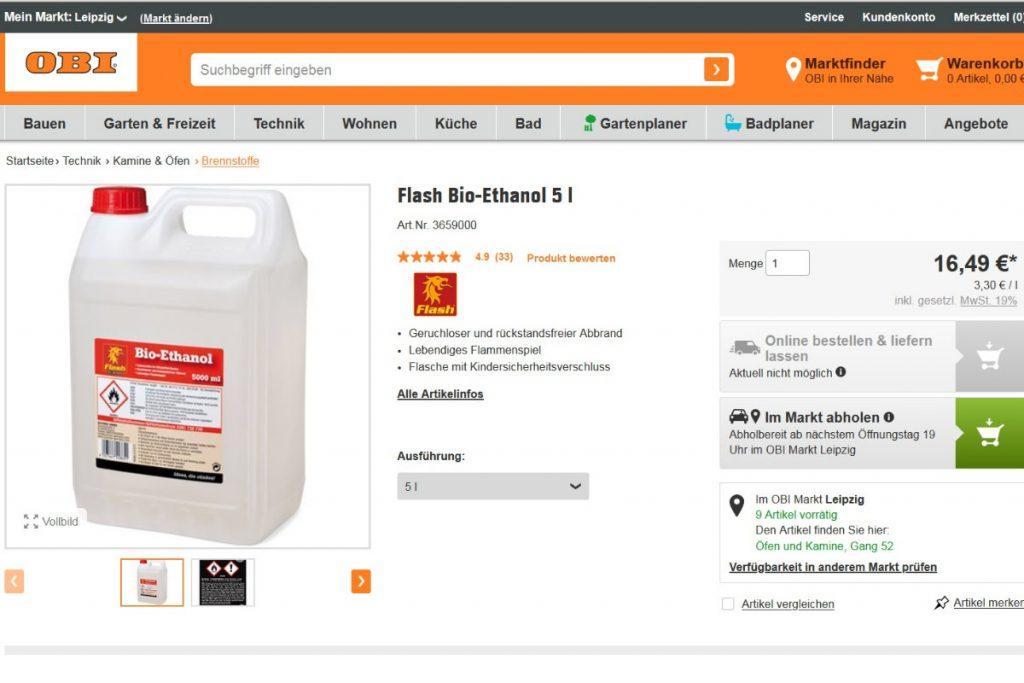 Ethanol Bei OBI