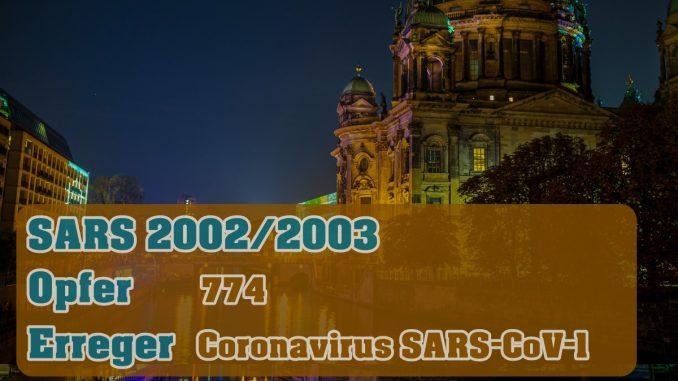 Pandemie - SARS 2002 - 2003
