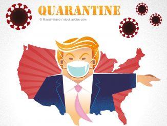 Infektion Coronavirus Präsident Donald Trump USA