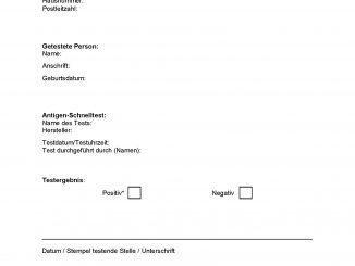 Formular-Befund-Testergebnis-Corona-Schnelltest